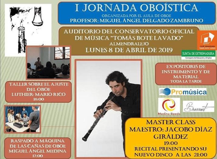 I JORNADA OBOÍSTICA ORGANIZADA POR EL AULA DE OBOE
